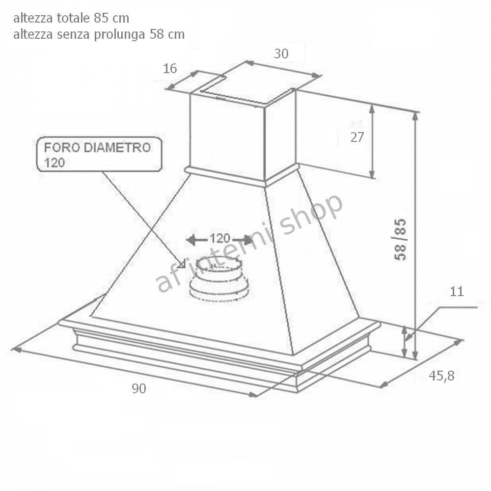 Emejing Dimensioni Cappa Cucina Ideas - Skilifts.us - skilifts.us