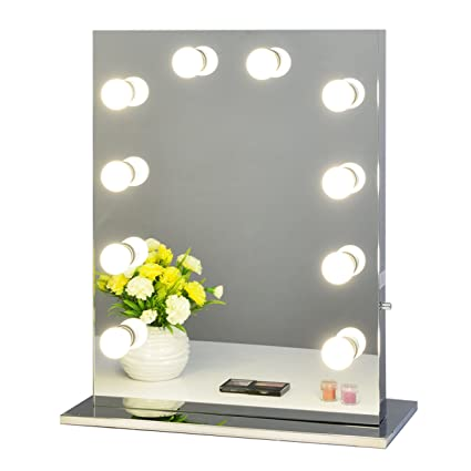 Amazon chende frameless hollywood tabletops lighted makeup chende frameless hollywood tabletops lighted makeup vanity mirror with dimmer gift 6550 frameless aloadofball Image collections