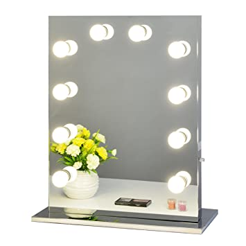 Amazon chende frameless hollywood tabletops lighted makeup chende frameless hollywood tabletops lighted makeup vanity mirror with dimmer gift 6550 frameless mozeypictures Gallery