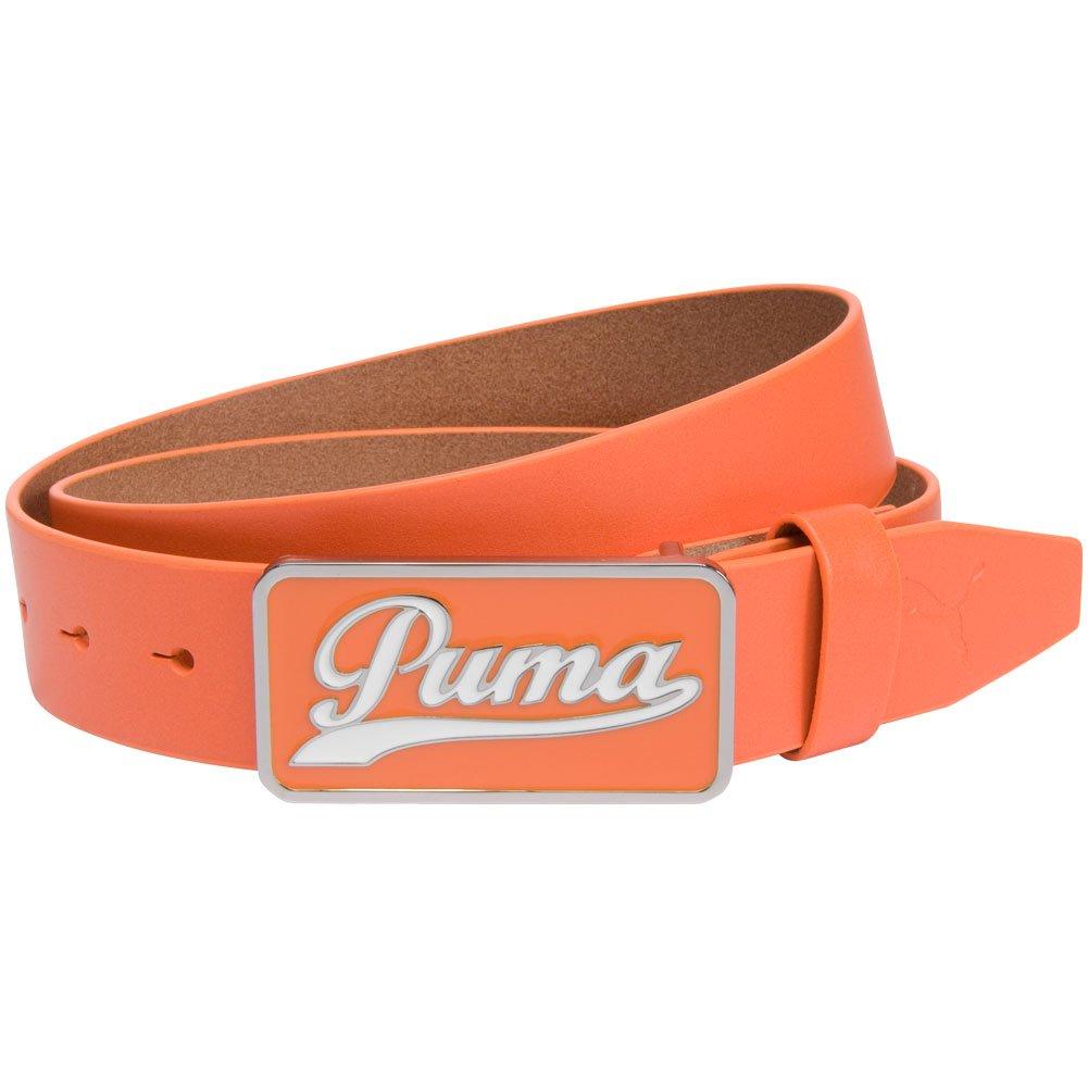 Vibrant Orange Puma 2015 Mens Script Fitted Belt X-Large