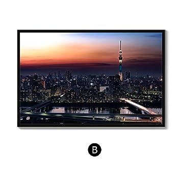 f3f74eae3cc44 Royllent フレーム付き 絵画 アートパネル インテリア 「東京タワー」 夜景 壁掛け ...
