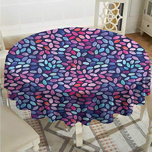 Tim1Beve Grunge Fashions Table Cloth Oval Watercolor Spots Modern Minimalist D54 ()