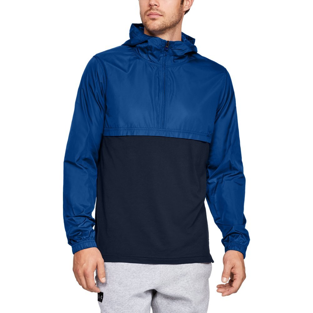 Under Armour Men's sportstyle Wind Anorak, Royal (400)/Academy, Small