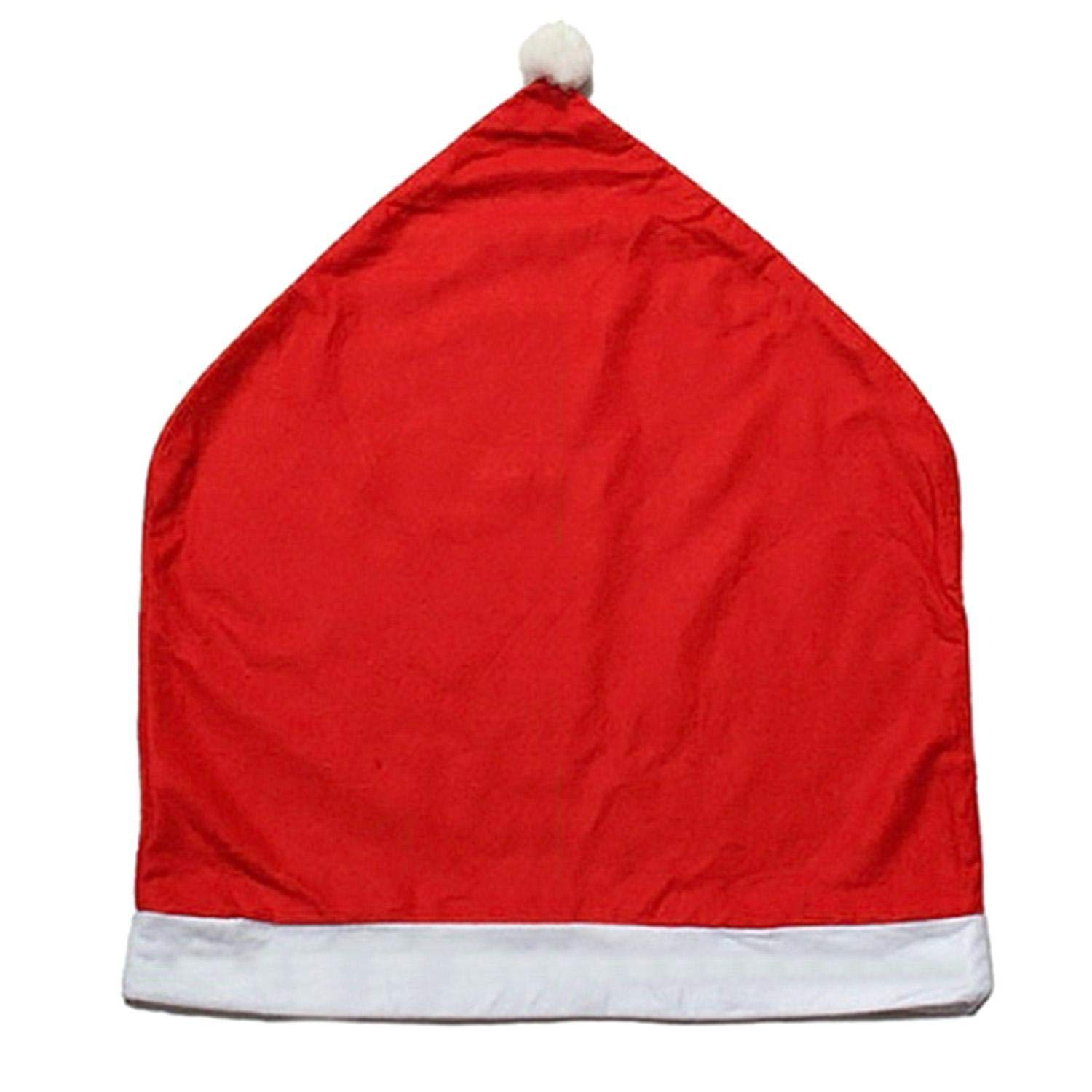 Oliote Santa Clause Red Hat Chair Covers, Decor Christmas Dinner Table Party Décor