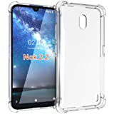 Nokia 2.2 Case, PUSHIMEI Soft TPU Crystal Transparent Slim Anti Slip Full-Body Protective Phone Case Cover for Nokia 2.2…