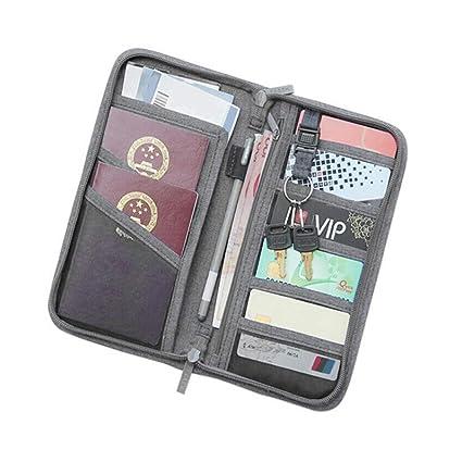96c1f0d951d4 Amazon.com: TOPBATHY Passport Holder Travel Wallet Documents ...