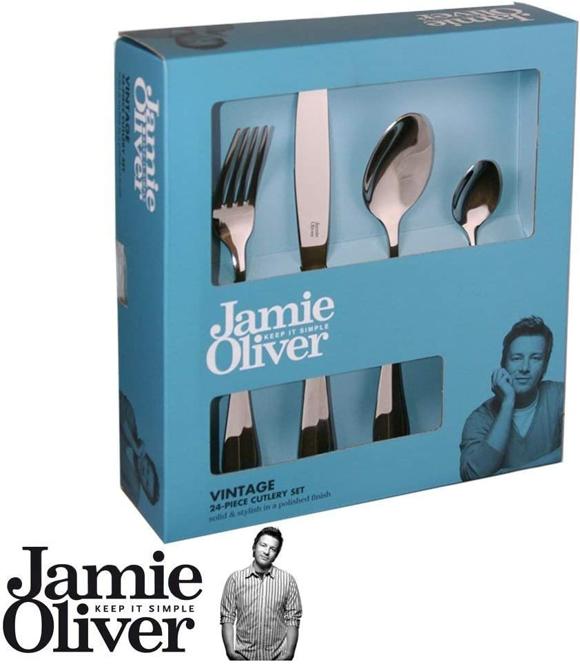 polished Jamie Oliver Vintage cutlery set 16 piece 18//10