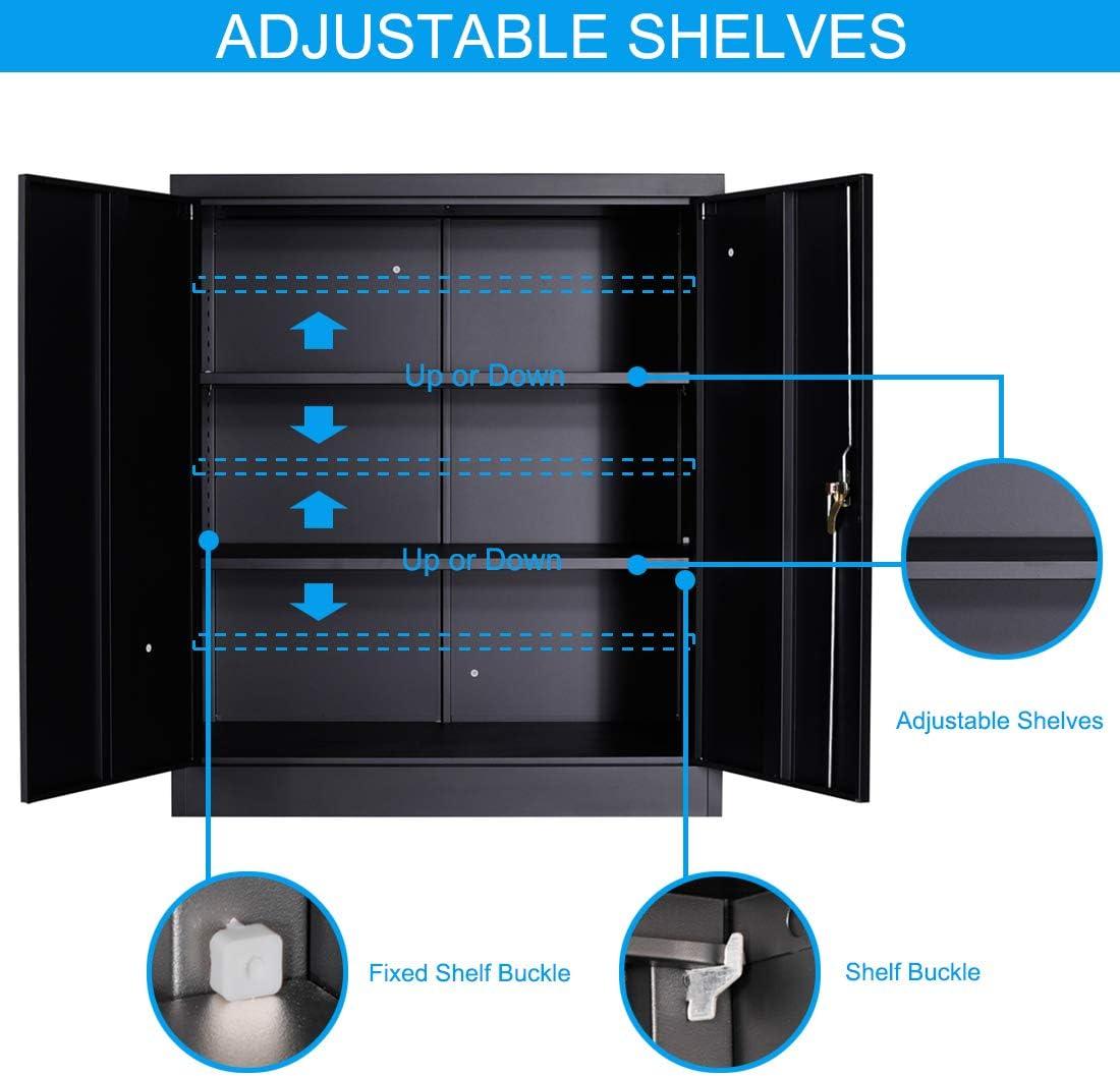 3 Shelf Metal Storage Cabinet