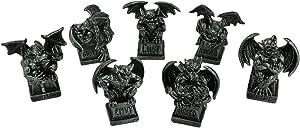 "DWK 4"" The Deadly Seven Mini Gargoyle Figurines Gothic Sins Miniature Statue Home Decor Set"