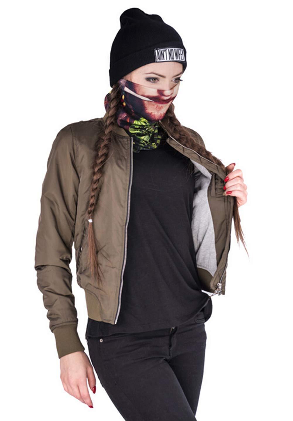 Men Women Face Shield Mask Seamless Bandana Biker Riding Outdoor MicroFiber Tube Neck Warmer (Human Face) by Guyay (Image #4)