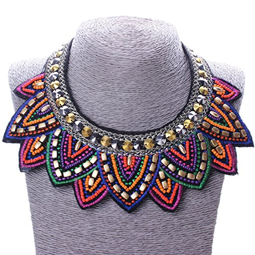 Tribal Jewelry Handmade Spiky Geometric Triangle Charm Bib Choker Necklace New