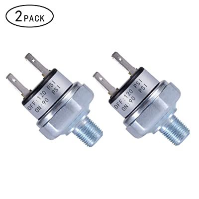 "Air Pressure Switch 90-120 PSI Pressure Switch 1/8""-27 NPT DC 24V 12V Pressure Switch Air Compressor Pressure Switch 120PSI Pressure Switch 90 PSI Pressure Switch: Industrial & Scientific"