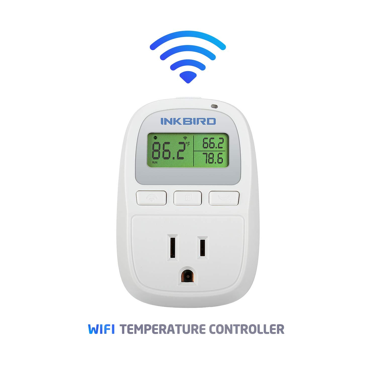 Inkbird C929 Smart Digital WiFi Temperature Controller 120VAC 1200W Heater or Cooler Thermostat Homebrewing Reptiles Terrarium Greenhouse Heat Mat