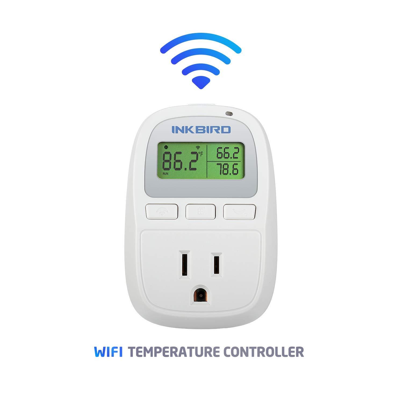 Inkbird C929 Smart Digital WiFi Temperature Controller 120VAC 1200W Heater or Cooler Thermostat Homebrewing Reptiles Terrarium Greenhouse Heat Mat by Inkbird