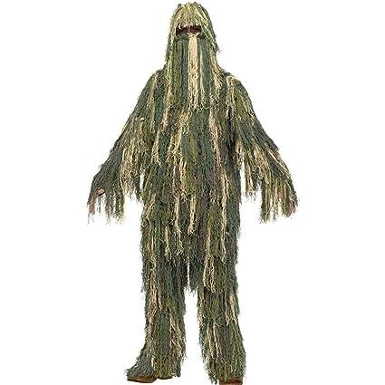 Amazon.com: Ghillie disfraz para niños, Verde (Green ...