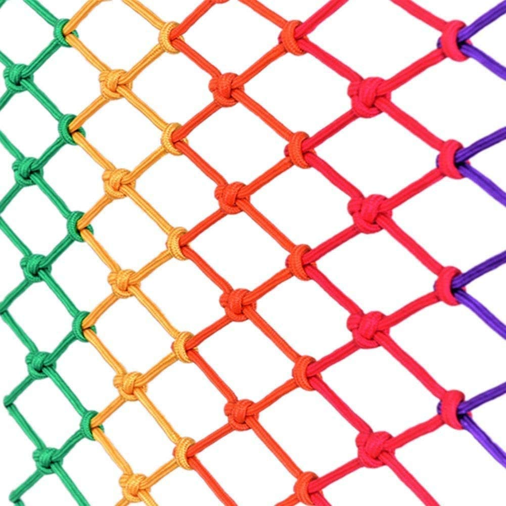 Outdoor Mesh Rope Climbing Netting Heavy Duty Decorative Children - Indoor Balcony Ceiling Decor, Patios Anti-cat Isolation Garden Anti-collision Reinforced Elastic Multicolor Optional Safety Net for