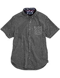 Brave Soul Mens Clement Short Sleeve Fine Gingham Checkered Shirt