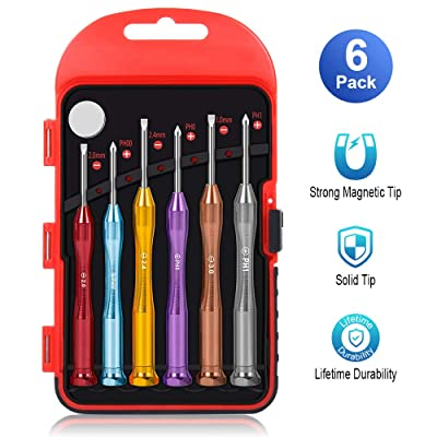 Mini Screwdriver Set,Eyeglass Repair Kit 6pc Precision Screwdriver Set With Magnetizer Perfect Mini Screwdriver For Eyeglass, Electronics, Toys, Computer, Watch Repair Upgrade Edition: Home Improvement