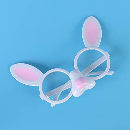 6c5417c88d Amazon.com  OULII Easter Fancy Costume Accessories Bunny Design Funny  Glasses Frames Decoration Kids Adults Novelty Sunglasses With Transparent  Clear Lenses ...