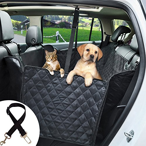 Ephram Dog Car Seat Cover, Universal Safety Pet Car Back Seat Covers Dogs Car Seat Protector Adjustable Travel Pets Cat Car Backseat Bench Hammock Mat Blanket Bed Waterproof Nonslip Scratch Proof Dog Hammock For SUV Family Van Sedan Vehicles