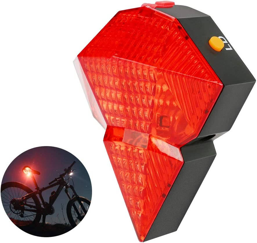 Logicstring USB Rechargeable Rear Light Cycling LED Bike Bicycle Tail Rear Safety Warning Light Taillight Lamp