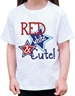7 ate 9 Apparel Girls' Red White and Cute 4th of