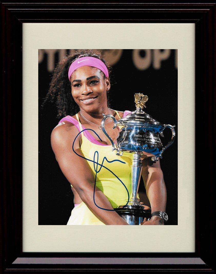 Framed Serena Williams Autographレプリカ印刷 – Serena Slam 。   B01NAYCWYZ