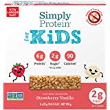 SimplyProtein for Kids Bar - Strawberry Vanilla - High Protein, Nut Free, Vegan, Gluten Free, High Fibre, Non GMO, Strawberry
