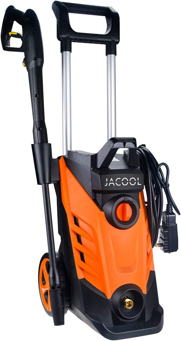 JACOOL 2180 PSI Electric Pressure Washer 2.4 GPM 15 AMP Portable Electric Power Cleaner 1800W Car Washer Machine with Adjustable Nozzle