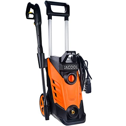 JACOOL Electric Pressure Washer 2180 PSI Car Power Washer 2 4 GPM High  Pressure Cleaner Machine with Long Hose, Adjustable Nozzle and Spray Gun