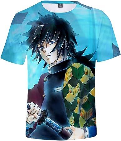 Nikea Unisexo Anime Camisetas 3D Impresión tee Juego Patrón ...