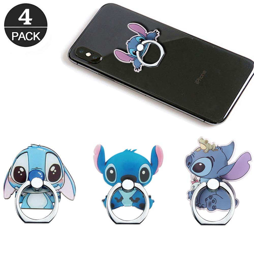 RRJQW Phone Ring Holder Stand,Stitch Phone Ring Stand Holder 360 Rotation Finger Ring Grip Stand for Cellphones,Smartphones and Tablets
