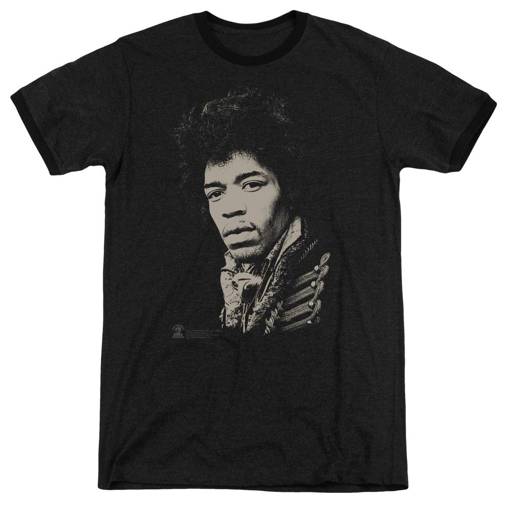 Jimi Hendrix Major Rebel Jimi Adult Ringer T Shirt 4876
