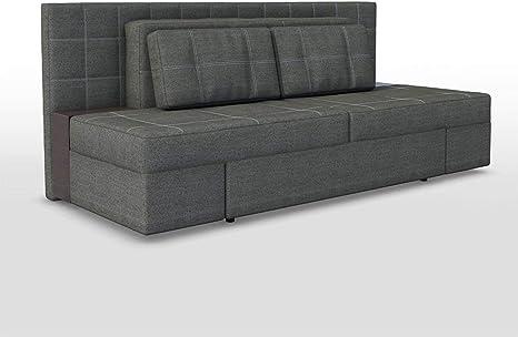 OSKAR Sofá Cama Innovador, Lujoso 230 x 105 cm, Gris, sofá con función de sueño, Cama Doble, sofá, Cama con somier
