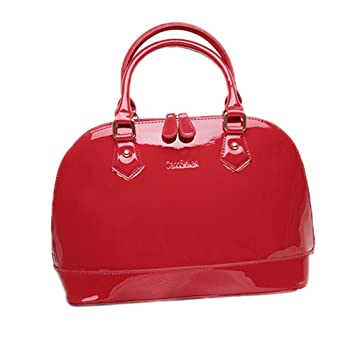 Amazon.com: aooher Womens Pure Color PU piel Boutique bolsa ...