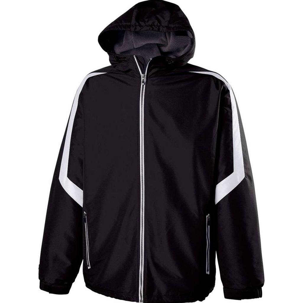 Holloway Youth Charger Jacket (Medium, Black/White) by Holloway