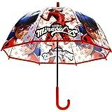 Kids LB17041 Paraguas Automático Transparente Miraculous: Las Aventuras de Ladybug 48cm