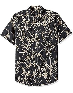Men's Bamboo Short Sleeve Woven Button Down Shirt