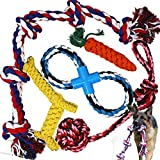 Jalousie 5 Pack Extra Large Puppy Dog Chew Toy Dog Rope Toy Assortment for Medium Large Breeds (5 Pack XL)