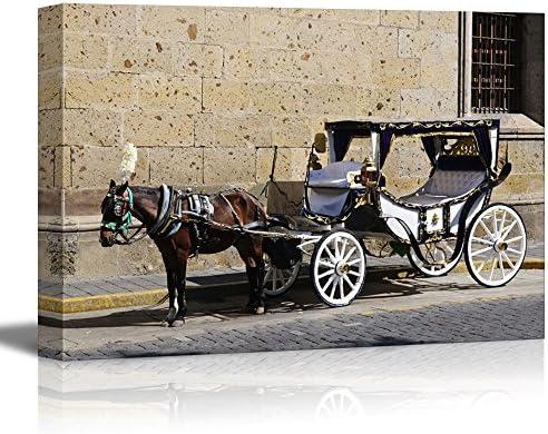 wall26 Horse Drawn Carriage Waiting