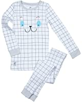 Papallou Boys Girls Sleepy Face Print Pajama Set