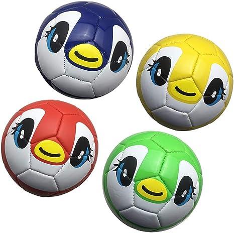 perfeclan 4X Bolas de Fútbol de PU Suave Patraón Lindos Pelota ...