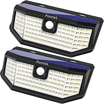 Aootek 120 Led Solar Outdoor Motion Sensor Lights – Best Solar Deck Lights