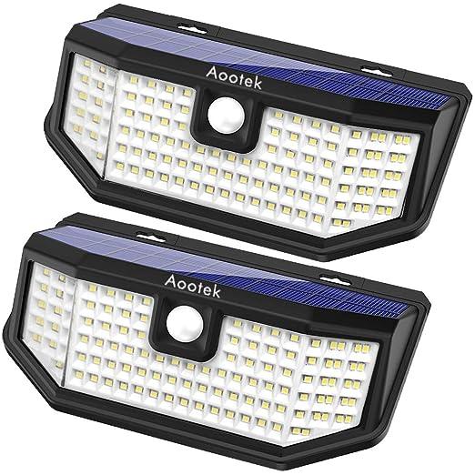 Amazon.com: Aootek 120 LED Solar al aire libre sensor de ...