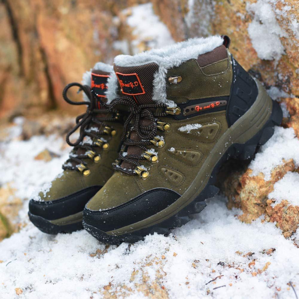 Oudan Männer Männer Männer Nd Frauen Plus Baumwolle Schneeschuhe Wanderschuhe Freizeitsportarten (Farbe   Dunkelgrün Größe   36EU) dcbcdc
