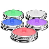 kingpo 5PCS Mason Jar Tapas de Silicona Tapas
