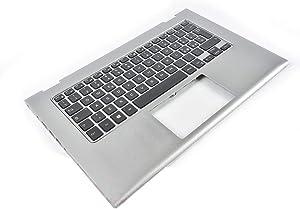 GAOCHENG Laptop Palmrest for DELL Inspiron 13 7347 7348 P57G 0V5CHP V5CHP 0V1R95 V1R95 Silver with Italian IT Backlit Keyboard Upper case New