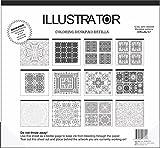Aurora Illustrator Adult Coloring Desk Pad Refill, 12 Pages, 16.5'' x 18'', Mandalas Design (AUA4-16131)