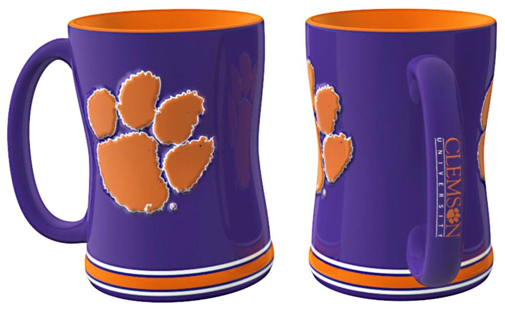 【高知インター店】 Clemson Tigersコーヒーマグ – Clemson 14オンスSculptedレリーフ – B005V27CQW, ヴェニスの商人:b0ab2a55 --- lightinglogistics.co.za