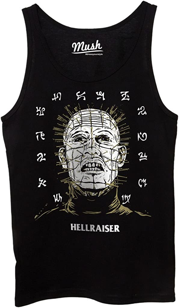 Uomo-M-Nera MUSH Canotta Hellraiser Horror 80S Film by Dress Your Style